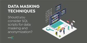 Data masking techniques - data masking vs. scripts